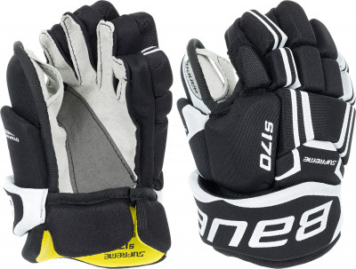 Перчатки хоккейные детские Bauer S17 Supreme S170Благодаря анатомической конструкции эти перчатки более плотно охватывают руку, создавая ощущение естественности и быстрой реакции на движение.<br>Пол: Мужской; Возраст: Дети; Вид спорта: Хоккей; Материал верха: Stretch Nylon; Материал наполнителя: Double density foam, PE; Материал подкладки: Hydrophobic; Вентиляция: Есть; Производитель: Bauer; Артикул производителя: 1050861; Срок гарантии: 1 год; Страна производства: Китай; Размер RU: 8.5;