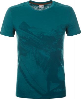 Футболка мужская Merrell, размер 48Футболки<br>Практичная футболка для путешествий и долгих летних прогулок от merrell. Натуральные материалы ткань выполнена из натурального хлопка и приятна к телу.