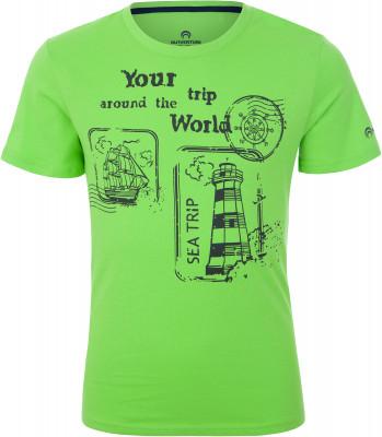 Футболка для мальчиков Outventure, размер 158Футболки и майки<br>Детская футболка outventure прекрасно подойдет для прогулок и путешествий.
