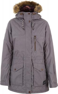 Куртка утепленная женская TermitУдлиненная сноубордическая куртка для женщин. Водонепроницаемая мембрана куртка выполнена из дышащей мембранной ткани dry vex, созданной по современным технологиям.<br>Пол: Женский; Возраст: Взрослые; Вид спорта: Сноубординг; Вес утеплителя на м2: 160 г/м2; Наличие мембраны: Да; Регулируемые манжеты: Да; Длина по спинке: 86 см; Водонепроницаемость: 5000 мм; Паропроницаемость: 5000 г/м2/24 ч; Защита от ветра: Да; Покрой: Прямой; Дополнительная вентиляция: Да; Проклеенные швы: Да; Длина куртки: Длинная; Датчик спасательной системы: Нет; Капюшон: Не отстегивается; Мех: Искусственный; Снегозащитная юбка: Да; Количество карманов: 6; Карман для маски: Да; Карман для Ski-pass: Да; Выход для наушников: Да; Водонепроницаемые молнии: Нет; Артикулируемые локти: Да; Совместимость со шлемом: Нет; Технологии: Dryvex; Производитель: Termit; Артикул производителя: TEJAW0491L; Страна производства: Китай; Материал верха: 100 % полиэстер; Материал подкладки: 100 % полиэстер; Материал утеплителя: 100 % полиэстер, искусственный отстегивающийся мех планка капюшона: 100 % акрил; Размер RU: 48;