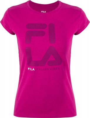 Футболка женская Fila, размер 48Футболки<br>Удобная и практичная футболка в спортивном стиле от fila. Натуральные материалы натуральный хлопок гарантирует комфорт и воздухообмен.