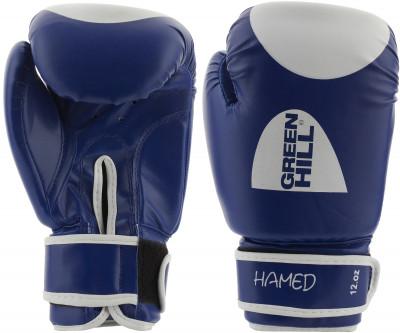 Перчатки боксерские Green Hill HamedПрочные боксерские перчатки со специальным уплотнителем предназначены для тренировок.<br>Вес, кг: 12 oz; Тип фиксации: Липучка; Материал верха: Искусственная кожа; Материал наполнителя: Пенополиуретан; Вид спорта: Бокс; Производитель: Green Hill; Артикул производителя: BGH-2036; Срок гарантии: 3 месяца; Страна производства: Пакистан; Размер RU: 12 oz;