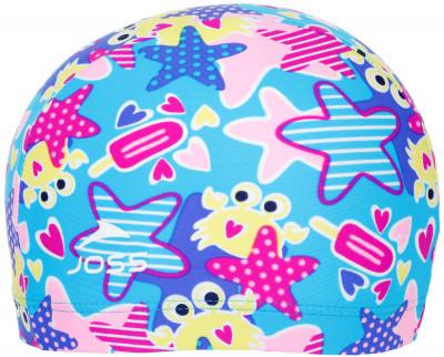 Шапочка для плавания детская JossУдобная и яркая детская шапочка для плавания от joss - это отличный выбор для похода в бассейн.<br>Пол: Мужской; Возраст: Дети; Вид спорта: Плавание; Назначение: Универсальные; Материалы: 80 % полиамид, 20 % эластан; Технологии: creora highclo; Производитель: Joss; Артикул производителя: SWCJ06MK52; Страна производства: Китай; Размер RU: 52-54;