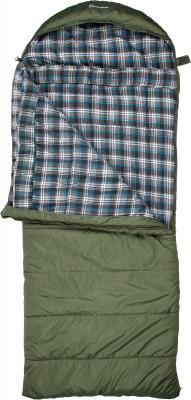 Outventure Yukon T-6Спальные мешки<br>Удобный кемпинговый спальник-одеяло большого размера станет отличным вариантом для отдыха на природе. Комфортный температурный режим от 4 до -6 с.