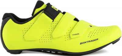 Велотуфли Trek Bontrager Starvos, размер 44Обувь<br>Контактные велотуфли для шоссейных велосипедов. Стабилизация и поддержка стопы продуманный дизайн inform race обеспечивает комфортную посадку и поддержку стопы.