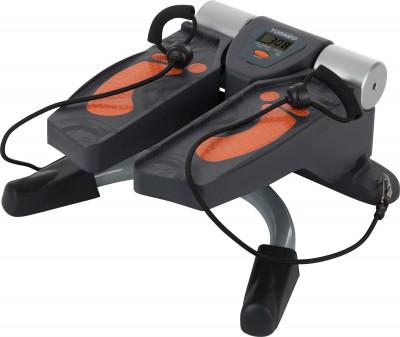 Torneo Twister S-211Компактный домашний кардиотренажер имитатор ходьбы по лестницам. Наилучший вариант для тщательной проработки икроножных и мышц тазобедренной области.<br>Тип степпера: Поворотный; Система нагружения: Гидравлическая; Питание тренажера: Батарейки; Максимальный вес пользователя: 120 кг; Время тренировки: Есть; Ритм, шаг/мин: Есть; Количество шагов за тренировку: Есть; Количество шагов за предыдущие тренировки: Есть; Израсходованные калории: Есть; Педали: Взаимозависимый ход, поворотный механизм; Дополнительно: Два упругих шнура для тренировки верхней части тела; Размеры (дл х шир х выс), см: 51 x 55 x 24; Вес, кг: 12,6; Вид спорта: Кардиотренировки; Технологии: EverProof, Ready-to-Fit; Производитель: Torneo; Артикул производителя: S-211; Срок гарантии: 2 года; Страна производства: Китай; Размер RU: Без размера;