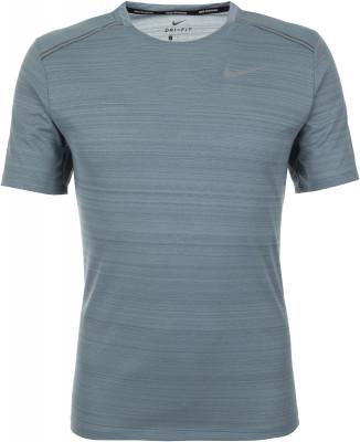 Футболка мужская Nike Miler, размер 46-48Мужская одежда<br>Футболка nike dri-fit miler из влагоотводящей и воздухопроницаемой ткани обеспечивает комфорт и вентиляцию во время пробежки отведение влаги технология dri-fit эффективно от