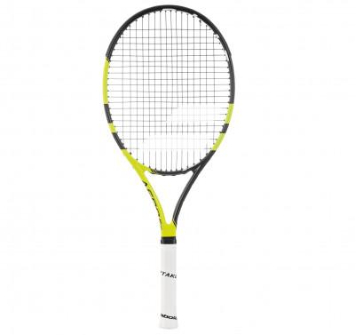 Ракетка для большого тенниса детская Babolat Aero Junior 26Aero junior 26 отлично подходит спортсменам в возрасте от 8 до 13 лет, которые предпочитают агрессивный стиль.<br>Материал ракетки: Графит; Вес (без струны), грамм: 250; Размер головы: 645 кв.см; Баланс: 310 мм; Длина: 26; Стиль игры: Агрессивный стиль; Технологии: Aero Modular Technology, Cortex, Woofer; Производитель: Babolat; Артикул производителя: 140177; Срок гарантии: 2 года; Страна производства: Китай; Вид спорта: Теннис; Уровень подготовки: Продвинутый; Наличие струны: В комплекте; Наличие чехла: Опционально; Размер RU: Без размера;