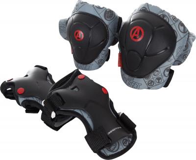 Набор защиты детский REACTIONЗащита и наклейки<br>Набор защитной экипировки для детей marvel avengers. Регулируемая система фиксации обеспечивает удобную индивидуальную посадку.