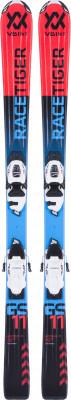 Volkl Racetiger Jr + 4.5 (17/18)Симпатичные и мягкие лыжи начального уровня для маленьких горнолыжников. Для любых склонов универсальная геометрия подойдет для любых типов склонов.<br>Сезон: 2017/2018; Назначение: Универсальные; Уровень подготовки: Начинающий; Крепления в комплекте: Да; Пол: Мужской; Возраст: Дети; Вид спорта: Горные лыжи; Конструкция: Кэп; Геометрия: 100 - 68 - 82 мм; Радиус бокового выреза: 8,3 м; Дуги: Короткие; Прогиб: Смешанный; Тип прогиба: Tip Rocker; Жесткость: Низкая; Сердечник: Composite Core; Материал сердечника: Композит; Система креплений: Флэт; Производитель креплений: Marker; Модель креплений: 4,5; Усилие срабатывания крепления: 0,75-4,5 DIN; Ширина ски-стопа: 85 мм; Конструкция носка: 4-Linkage JR.; Конструкция пятки: Compact JR.; Высота крепления: 21 мм; Регулировка размера крепления: Да; Рекомендуемый вес пользователя: 12-57 кг; Производитель: Volkl; Артикул производителя: 117470K100; Срок гарантии на лыжи: 1 год; Срок гарантии на крепления: 1 год; Размер RU: 100;