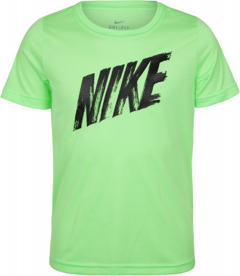 Футболка для мальчиков Nike, размер 158-170Футболки и майки<br>Практичная футболка для тренинга nike dri-fit. Отведение влаги технология dri-fit обеспечивает отвод влаги, позволяя сосредоточиться на тренировке.
