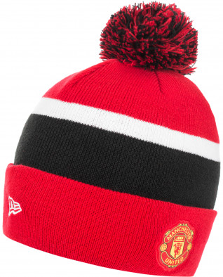 Шапка New Era Man UTD Bobble Knit Scarlet