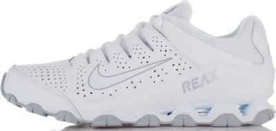 Кроссовки мужские Nike Reax 8 TRТехнологичные мужские кроссовки для тренинга nike reax 8 tr. Амортизация система амортизации в области пятки nike reax эффективно гасит ударные нагрузки.<br>Пол: Мужской; Возраст: Взрослые; Вид спорта: Тренинг; Тип тренировки: Силовые тренировки; Способ застегивания: Шнуровка; Материал верха: 46 % кожа, 41 % синтетическая кожа, 13 % текстиль; Материал подкладки: 100 % текстиль; Материал подошвы: 80 % резина, 20 % пластик; Производитель: Nike; Артикул производителя: 616272-101; Страна производства: Вьетнам; Размер RU: 45;