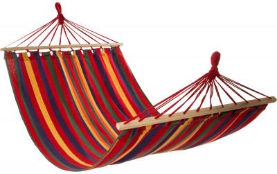 Гамак OutventureПрочный гамак с деревянными планками - отличный выбор для отдыха на открытом воздухе. Максимальный вес пользователя 100 кг.<br>Материалы: 100 % полиэстер; Размер (Д х Ш), см: 200 х 100; Вес, кг: 1,7; Производитель: Outventure; Артикул производителя: IE6602MX; Срок гарантии: 2 года; Страна производства: Китай; Размер RU: Без размера;