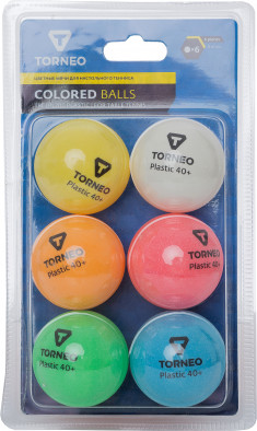 Набор мячей для настольного тенниса Torneo, 6 шт