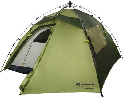 Палатка 3-местная быстрой сборки Outventure 1 SECOND TENT 3Современная туристическая палатка, рассчитанная на 3 человек. В собранном виде модель упаковывается в стандартный чехол.<br>Назначение: Кемпинговые; Количество мест: 3; Наличие внутренней палатки: Есть; Тип каркаса: Внешний; Геометрия: Полусфера; Вес, кг: 4,6; Размер в собранном виде (д х ш х в): 290 x 220 x 130 см; Размер в сложенном виде (дл. х шир. х выс), см: 90 x 18 x 18 см; Размер тамбура (д х ш х в): 70 x 220 x 130 см; Количество комнат: 1; Количество входов: 1; Вентиляционные окна: Есть; Количество вентиляционных окон: 2; Окна: Есть; Количество окон: 2; Диаметр дуг: 9,5 мм; Внешний тент: Есть; Усиленные углы: Есть; Количество оттяжек: 4; Водонепроницаемость тента: 2000 мм в.ст.; Водонепроницаемость дна: 10 000 мм в.ст.; Проклеенные швы: Есть; Противомоскитная сетка: Есть; Материал тента: Полиэстер; Материал внутренней палатки: Полиэстер; Материал дна: Армированный полиэтилен; Материал каркаса: Фибергласс; Материал колышков: Сталь; Вид спорта: Кемпинг; Производитель: Outventure; Артикул производителя: T019UU; Срок гарантии: 2 года; Страна производства: Китай; Размер RU: Без размера;