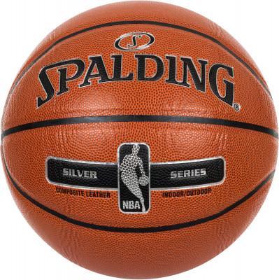 Мяч баскетбольный Spalding NBA Silver SeriesБаскетбольный мяч для соревнований и тренировок различного уровня. Улучшенные сцепление и контроль мяча.<br>Возраст: Взрослые; Вид спорта: Баскетбол; Тип поверхности: Универсальные; Назначение: Тренировочные; Материал покрышки: Композитная кожа; Материал камеры: Бутил; Способ соединения панелей: Клееный; Количество панелей: 8; Вес, кг: 0,569-0,61; Производитель: Spalding; Артикул производителя: 76-018Z; Страна производства: Китай; Размер RU: 7;