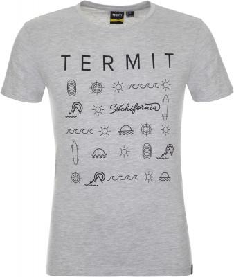 Футболка мужская Termit, размер 46Skate Style<br>Ощути дух свободы с фирменной футболкой из линии sochifornia от termit! Натуральные материалы натуральный хлопок гарантирует комфорт в жаркую погоду.