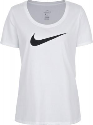 Футболка женская Nike DryЖенская футболка из влагоотводящей ткани nike dry оптимально подходит для интенсивных фитнес-тренировок.<br>Пол: Женский; Возраст: Взрослые; Вид спорта: Фитнес; Покрой: Прямой; Материалы: 58 % хлопок, 42 % полиэстер; Технологии: Nike Dri-FIT; Производитель: Nike; Артикул производителя: 894663-101; Страна производства: Вьетнам; Размер RU: 46-48;