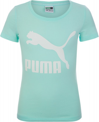 Футболка для девочек Puma Classics Logo Tee, размер 152Футболки и майки<br>Мягкая хлопковая футболка для девочек из винтажной коллекции puma завершит образ в спортивном стиле.