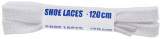 Шнурки белые плоские Woly Sport, 120 см