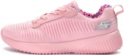 Кроссовки для девочек Skechers Bobs Squad, размер 35Кроссовки <br>Удобные кроссовки для девочек bobs squad от skechers завершат образ в спортивном стиле. Комфорт cтелька air-cooled memory foam имеет перфорацию и повторяет форму стопы.