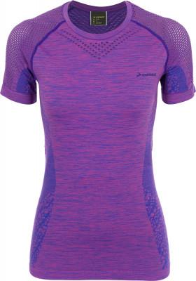 Футболка женская Demix, размер 46Футболки<br>Удобная футболка для тренинга от demix. Комфорт плоские швы не натирают кожу. Плотная посадка продуманный крой обеспечивает удобную посадку.