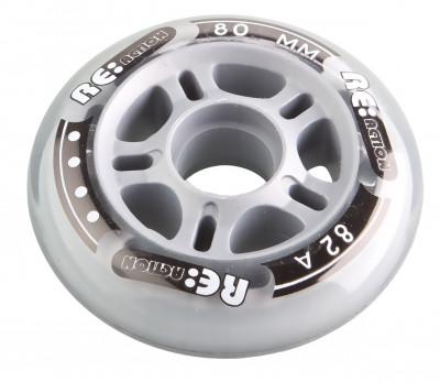 Набор колес для роликов REACTION 80 мм, 82А, 4 штНабор колес reaction 80 мм 82а - хорошо набирают скорость, идеально подходят для уличного фитнес-катания.<br>Материалы: Полиуретан, пластик; Диаметр: 80 мм; Вес, кг: 0,3; Вид спорта: Роликовые коньки; Производитель: REACTION; Артикул производителя: RW80\82; Срок гарантии: 6 месяцев; Страна производства: Китай; Размер RU: Без размера;