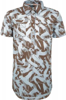 Рубашка женская Merrell, размер 42Рубашки<br>Рубашка с оригинальным принтом от merrell - отличный выбор для путешествий и долгих прогулок.