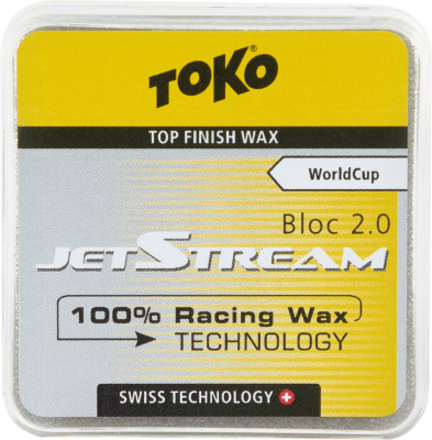 Порошок фторуглеродный для беговых лыж TOKO JetStream Bloc 2.0 yellow, размер Без размера