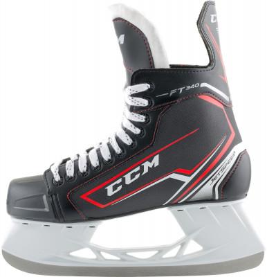 Коньки хоккейные CCM SK JS FT340Хоккейные коньки от ссм линии jetspeed. Модель рассчитана на широкий круг любителей хоккея.<br>Вес, кг: 0,85; Раздвижной ботинок: Нет; Термоформируемый ботинок: Нет; Материал ботинка: Нейлон; Материал подкладки: Микроволокно; Материал лезвия: Высокоуглеродистая сталь; Анатомический ботинок: Да; Широкая колодка: Нет; Тип фиксации: Шнурки; Усиленный ботинок: Нет; Поддержка голеностопа: Есть; Ударопрочный мыс: Да; Морозоустойчивый стакан: Нет; Защитное напыление лезвия: Нет; Анатомическая стелька: Нет; Усиленный язык: Нет; Анатомические вкладыши: Нет; Съемный внутренний ботинок: Нет; Материал подошвы: Пластик; Заводская заточка: Нет; Утепленный ботинок: Нет; Сезон: 2017/2018; Пол: Мужской; Возраст: Взрослые; Вид спорта: Хоккей; Уровень подготовки: Средний; Технологии: FELT TONGUE (5mm), INJECTED WITH MESH FORM SKIN, REINFORCED CLEAR TPU INJECTED OUTSOLE WITH EXHAUST SYSTEM, SPEEDBLADE PRO; Производитель: CCM; Артикул производителя: 3499460; Срок гарантии: 3 года; Страна производства: Китай; Размер RU: 46;