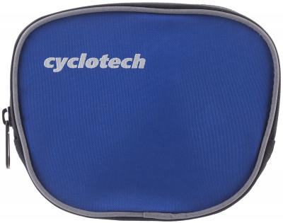 Велосипедная сумка CyclotechВелосипедная сумка. Особенности модели крепление на руль быстрая и легкая установка.<br>Материал верха: 100 % полиэстер; Объем: 0,1 л; Чехол от дождя: Нет; Органайзер: Нет; Размеры (дл х шир х выс), см: 15 x 13 x 6; Материалы: 100 % полиэстер; Вид спорта: Велоспорт; Производитель: Cyclotech; Артикул производителя: CYC-7B.; Страна производства: Китай; Размер RU: Без размера;