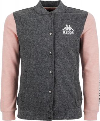 Джемпер для девочек Kappa, размер 158Джемперы<br>Отличное завершение образа в спортивном стиле - джемпер на кнопках для девочек от kappa. Натуральные материалы в составе ткани преобладает натуральный хлопок.
