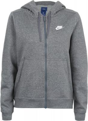 Джемпер женский Nike SportswearТрикотажный джемпер на молнии nike sportswear превосходно впишется в ваш спортивный гардероб.<br>Пол: Женский; Возраст: Взрослые; Вид спорта: Спортивный стиль; Покрой: Прямой; Капюшон: Не отстегивается; Количество карманов: 2; Застежка: Молния; Производитель: Nike; Артикул производителя: 853930-071; Страна производства: Пакистан; Материал верха: 51 % хлопок, 31 % вискоза, 18 % полиэстер; Материал подкладки: 50 % хлопок, 50 % вискоза; Размер RU: 46-48;