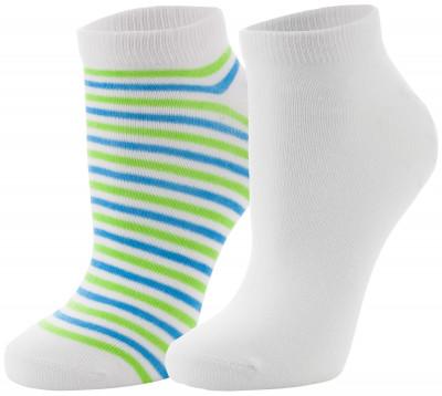 Носки женские Wilson, 2 парыУдобные яркие носки для занятий спортом. Изготовлены из качественных материалов, обеспечивающих максимальный комфорт во время тренировок. В комплекте 2 пары.<br>Пол: Женский; Возраст: Взрослые; Вид спорта: Спортивный стиль; Материалы: 98% полиэстер, 2% эластан; Производитель: Wilson; Артикул производителя: W449-E; Страна производства: Китай; Размер RU: 37-42;