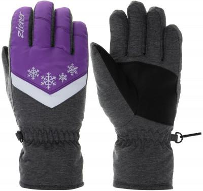 Перчатки для девочек Ziener, размер 6,5