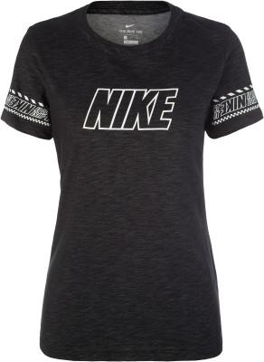Футболка женская Nike Dri-FIT, размер 40-42Футболки<br>Футболка nike dri-fit - отличный выбор для фитнес-тренировки. Отведение влаги технология dri-fit гарантирует отведение влаги.