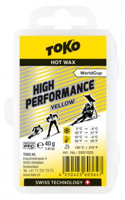 Мазь скольжения TOKO High Performance yellow 40g, 0С/-6C