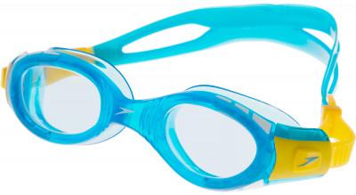 Очки для плавания детские SpeedoЯркие детские очки от speedo.<br>Пол: Мужской; Возраст: Дети; Вид спорта: Плавание, Пляж; Количество линз: 1; Покрытие анти-фог: Есть; Материал линз: Целлюлозы ацетат; Материал оправы: Силикон; Материал ремешка: Силикон; Технологии: AntiFog, Biofuse; Производитель: Speedo; Артикул производителя: 8-01233B563; Страна производства: Китай; Размер RU: Без размера;