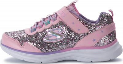 Кроссовки для девочек Skechers Glimmer Kicks, размер 30Кроссовки <br>Эффектные блестящие кроссовки skechers - для юных звезд спортивного стиля.