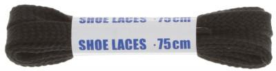 Шнурки черные плоские Woly Sport, 75 смПлоские черные шнурки woly sport подойдут для спортивной обуви. Длина 75 см, есть специальные наконечники аксельбанты.<br>Пол: Мужской; Возраст: Взрослые; Вид спорта: Аксессуары; Материалы: Хлопчатобумажная ткань; Длина: 75 см; Производитель: Woly; Артикул производителя: 6121-018; Страна производства: Нидерланды; Размер RU: Без размера;