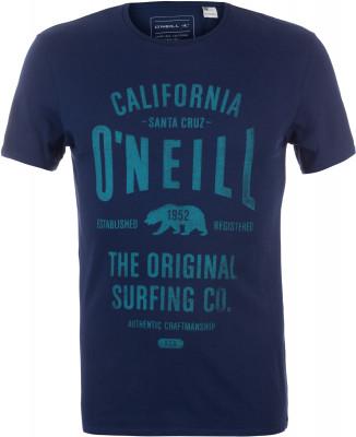 Футболка мужская ONeill MuirМужская футболка o neill muir с фирменным логотипом - простое решение для стильного образа.<br>Пол: Мужской; Возраст: Взрослые; Вид спорта: Surf style; Материалы: 100 % хлопок; Производитель: ONeill; Артикул производителя: 7A3657; Страна производства: Бангладеш; Размер RU: 54-56;