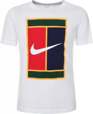 Футболка для мальчиков Nike, размер 147-158Футболки и майки<br>Детская футболка nikecourt t-shirt станет отличным выбором для теннисного корта. Свобода движений классической крой не стесняет движения.