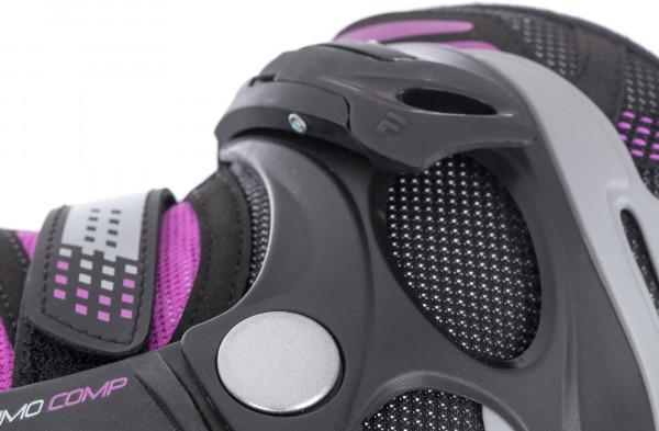 Удобная модель роликовых коньков от Fila предназначенная для фитнес-катания Модель рекомендуется широкому кругу любителей УЛУЧШЕННАЯ ВЕНТИЛЯЦИЯ Сетчатый материалnbsp Air Flow обеспечивает воздухообмен ТОЧНАЯ ФИКСАЦИЯ Ременьnbsp POWER STRAP фиксирует ботинок на ноге и способствует лучшей передаче энергии УЛУЧШЕННЫЙ НАКАТ Полиуретановые колеса 80 мм и скоростные подшипники АВЕС5 позволяют быстро набирать скорость ПРОЧНОСТЬ Каркас выполнен из высококачественного полипропилена армированного стекловолокном для большей прочности НИЗКИЙ ВЕС Монолитная бесшовная конструкцияnbsp Softwear обеспечивает легкость ботинка КОМФОРТ Анатомическая стелька равномерно распределяет давление на стопу АНАТОМИЧЕСКАЯ КОНСТРУКЦИЯ Анатомическая колодка ботинка разработана в Италии