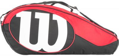 Сумка Wilson Match II 3 PackЧехол с богатым функционалом для серьезных игроков в теннис, предпочитающих серию match. Два функциональных кармана, отделение для ракетки и плечевой регулируемый ремень.<br>Пол: Мужской; Возраст: Взрослые; Вид спорта: Большой теннис; Состав: 100 % полиамид; Размеры (дл х шир х выс), см: 74 x 9 x 31,75; Производитель: Wilson; Артикул производителя: WRZ820603; Срок гарантии: 1 год; Страна производства: Китай; Размер RU: Без размера;