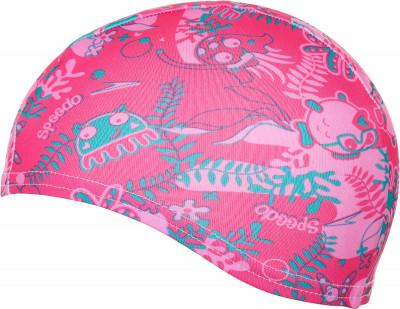 Шапочка для плавания детская Speedo Sea SquadДетская полиэстеровая шапочка от speedo - отличный выбор для занятий в бассейне.<br>Пол: Мужской; Возраст: Дети; Вид спорта: Плавание; Назначение: Универсальные; Производитель: Speedo; Артикул производителя: 8-07997B915; Страна производства: Китай; Материалы: 100 % полиэстер; Размер RU: Без размера;