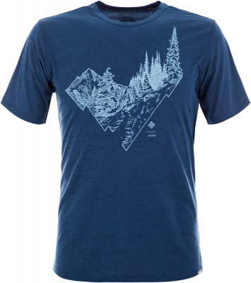 Футболка мужская Columbia Trail Shaker II, размер 46-48Футболки<br>Практичная мужская футболка для походов и активного отдыха. Отведение влаги ткань с технологией omni-wick максимально быстро и эффективно отводит влагу от кожи.