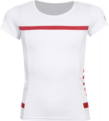 Футболка для девочек Fila, размер 146Одежда для девочек<br>В удобной и в то же время элегантной футболке fila юная теннисистка будет чувствовать себя на корте максимально уверенно.