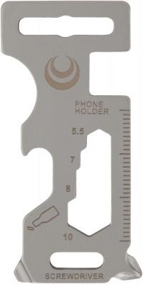Мультиключ OutventureНожи и инструменты<br>Легкий миниатюрный мультиключ outventure, включающий крестовую и шлицевую отвертки, гаечный ключ на 5, 5, 7, 8 и 10 мм и открывашку.