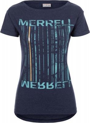 Футболка женская Merrell, размер 52Футболки<br>Удобная футболка с эффектной графикой от merrell - отличный выбор для поездок и прогулок.